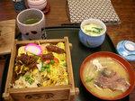 蒸し寿司のセット