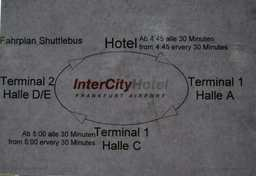 ホテルのシャトルバス路線図