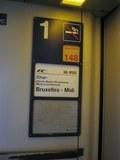 Chur発ブリュッセル行きEC特急IRIS号