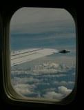 LH便からのアルプスの眺め