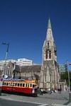 クライストチャーチ大聖堂と名物トラム